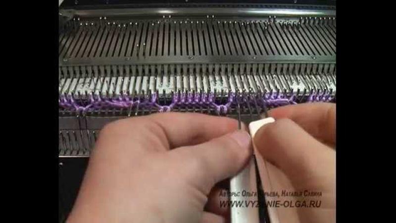 Вязание двух видов кос (аранов) со смещением.
