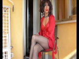 Corinne Cherie,  transvestite ,crossdresser,shemale , with sexy red lingerie