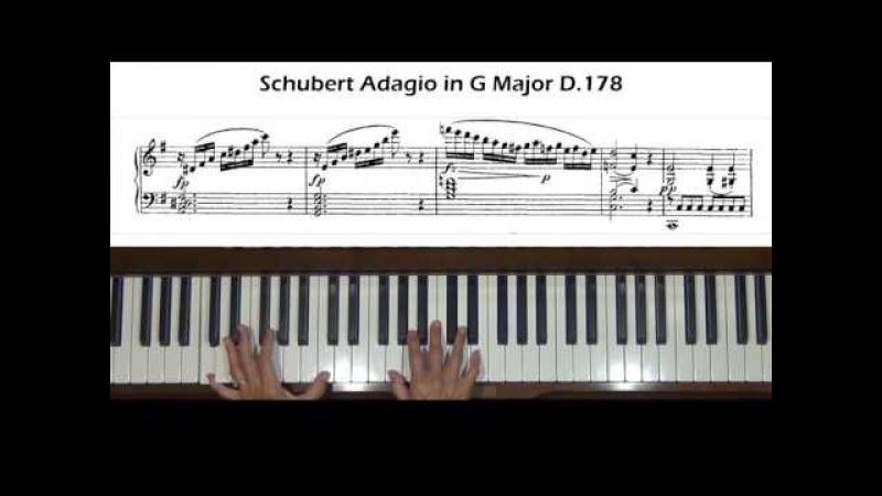 Schubert Adagio in G Major D.178 Piano Tutorial