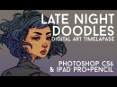 LATE NIGHT DOODLES DIGITAL PAINTING TIMELAPSE JACQUELIN DELEON