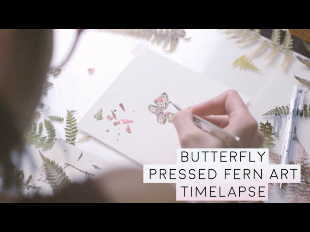 Butterfly Made with Pressed fern: Helen Ahpornsiri - Art Timelapse