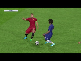 Chelsea vs Roma / A. Morata 2 Goals UEFA Champions League 2017 / Gameplay PES