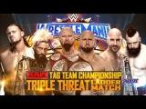 WWE Raw Tag Team Ladder Match - Wresltemania 33 Highlights