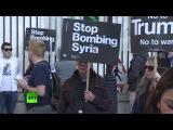 «Позор Трампу! Позор Мэй!» — в Лондоне прошёл митинг против атаки на авиабазу в С...