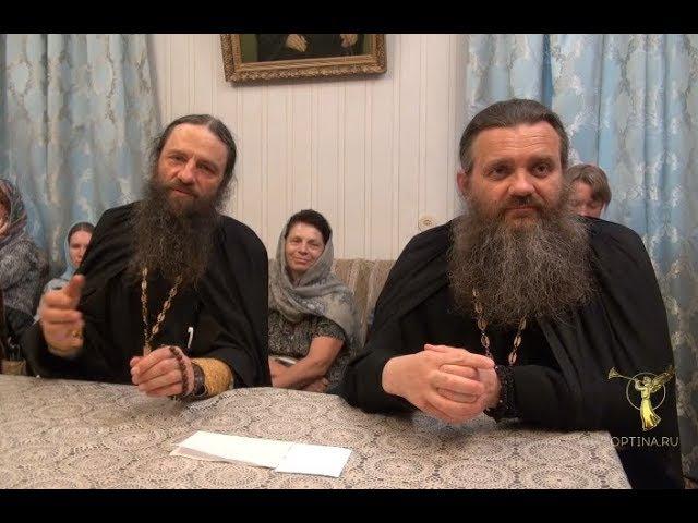 Беседа игумена Лаврентия и иеромонаха Нила с паломниками от 2 июля 2017 г