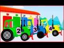 Мультики для детей - Учим цвета Синий трактор! Развивающие мультфильмы Для детей - МАШИНКИ!