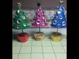 DIY~Sweet &amp Sparkly Little Christmas Trees For Decoration OR Party Favors!