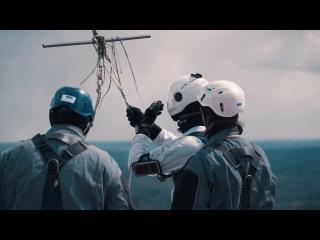 The Worlds FIRST DRONE JUMP первый в мире прыжок с дрона
