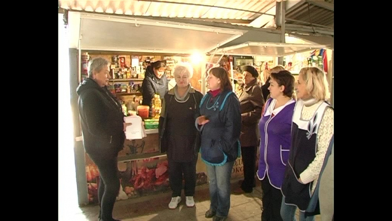 На минувшей неделе на рынке города Комсомольское прошло собрание с предпринимателями