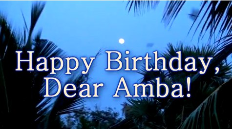 Happy Birthday dear Ambashankara! Interview - reportage of Maria Karpinskaya.