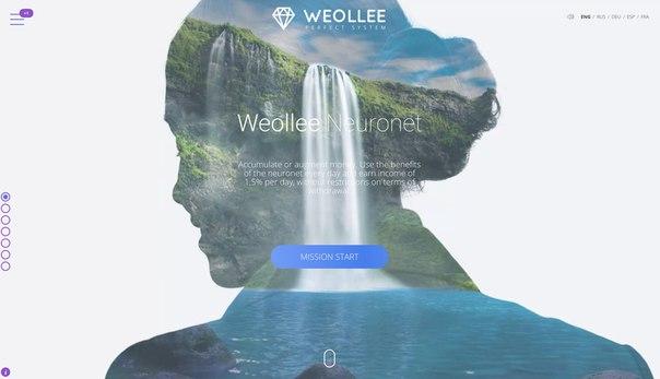 Weollee — бессрочная прибыль 1.5% в день в первой копилке на платформе