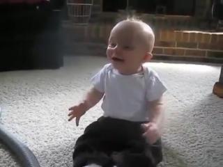 Маленький любитель пылесосов