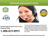 Obtain Hotmail Password Reset 1-888-819-0991 service right now