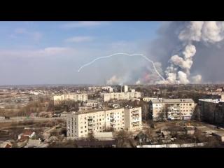 Балаклея, Харьков, момент детонации Точек-У и Град-ов, дальность 3км
