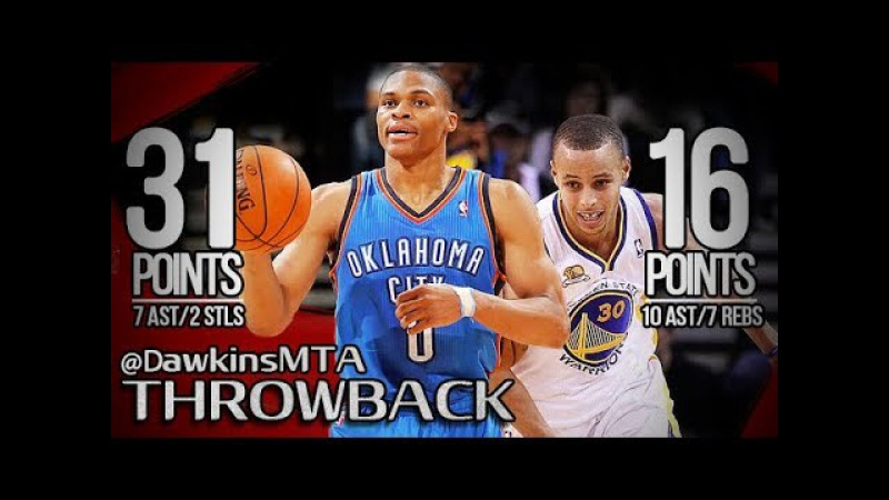 Russell Westbrook vs Stephen Curry PG Duel 2013.01.27 - Steph With 16-10, Russ With 31, 7 Asts!