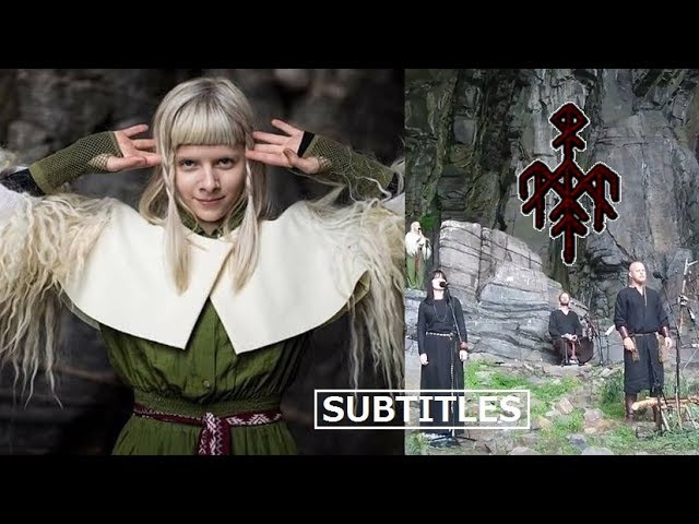 Wardruna feat. AURORA - Helvegen multi-language Lyrics/Subtitles (live at TraenaFestival2017) HD