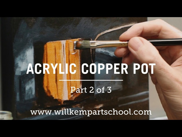 How to Paint a Copper Pot in Acrylics - Part 2 of 3 (HD)