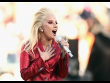 Lady Gaga Performs the National Anthem at 2016 Super Bowl (HD)