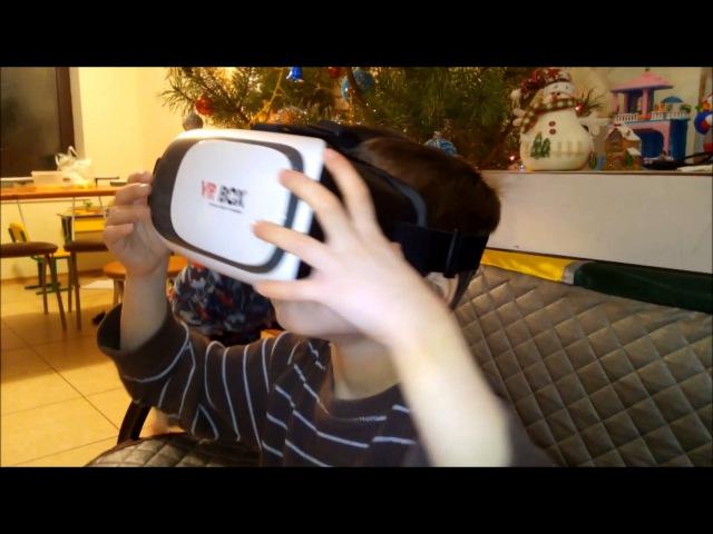Дети и VR Box - первая реакция:)