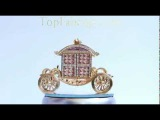 Russian Faberge carriage with clock