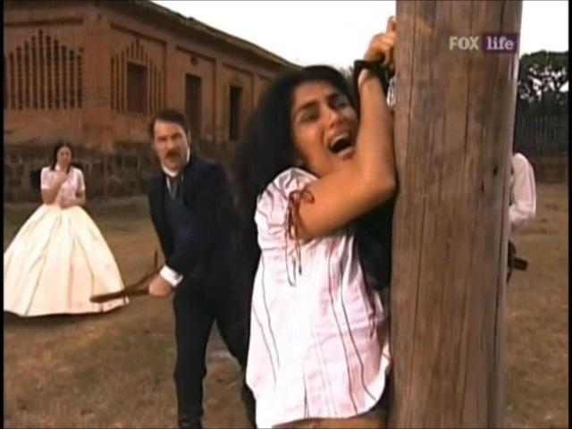 A Escrava Isaura (Record) - Leôncio , Malvina e Seu Chico dão Uma Surra em Rosa