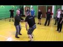 Защита руками со встречным ударом ногой