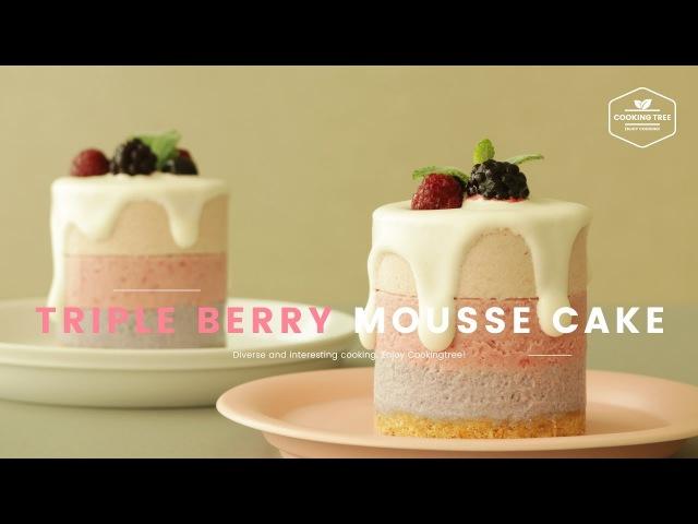 라즈베리♥딸기♥블루베리 트리플베리 무스케이크 만들기 How to make Triple berry mousse cake ト12
