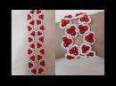 Браслет из бисера Сердечко Цветочек Bead Bracelet Heart Flower