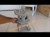 Como fazer uma lanterna de pedra, lanterna chinesa de cimento, Diy, ishidoro stone lantern.