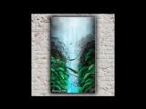 Картина баллончиками в технике spray paint art Между скал от Николая Хоменко