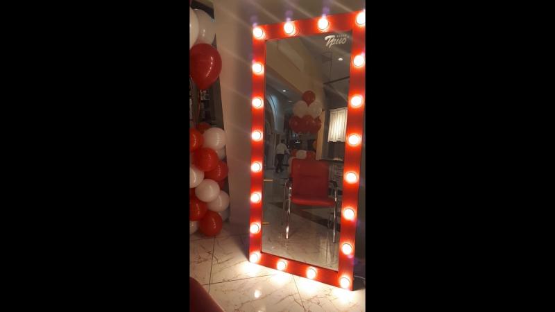 Диммируемые лампочки в зеркале Loft