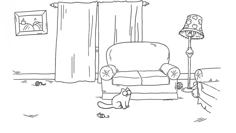 Кот Саймона / Simon's Cat - 54 серия (Laser Toy / Лазерная указка)