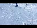 Шахдаг. катание на сноуборде после первого часа обучения.