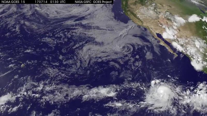Формирование урагана Фернанда в Тихом океане