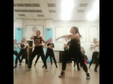 Dancehall routin to class by Kimiko Versitale