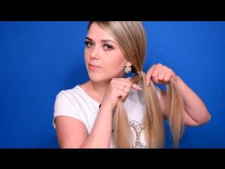 3D Коса Своими Руками Очень красивое плетение Прическа на средние и длинные волосы