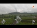 Очевидцы сняли на видео столб газа вырвавшийся из трубы в Новой Москве РЕН ТВ