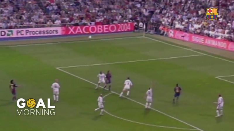 Утро гол от Барселоны Хави против Реал Мадрида в сезоне 2003 2004