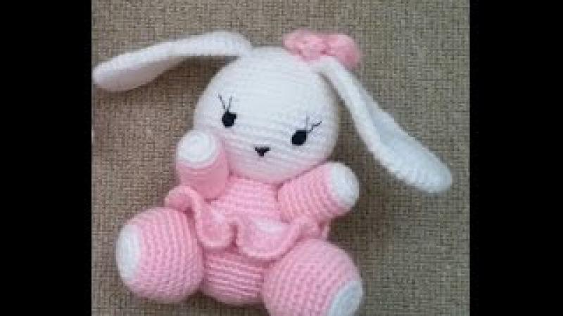 (Amigurumi ) Örgü Oyuncak Sevimli Tavşan Yapımı 5 (Crochet Amigurumi Cute Rabbit 5)