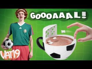 A Mug with a Soccer Goal!