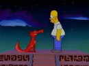 The Simpsons Space Coyote and Homer's Insanity Pepper Caused Vision