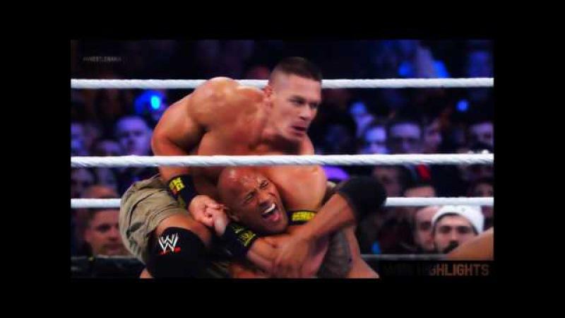 Wrestlemania 29 The Rock vs John Cena Highlights