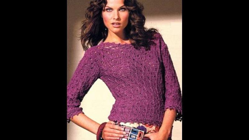 Джемперы Женские, Вязаные Спицами - 2019 / Sweaters Women's knitting / Pullover Frauen-Stricken