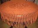 Вязаная скатерть крючком.Начало.Hand-knitted tablecloth. Вязание крючком.Вязаная скатерть.