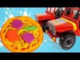 Vídeos de pizza de Play Doh 🍕 Carros de juguete para niños 🍕 Juegos de cocina. Pizzeria de juegos