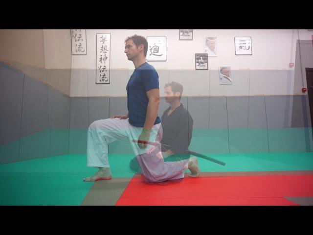 Aiki Taiso Iai Taiso Body Workout - kneeling, mobility movement - Xavier Dufau