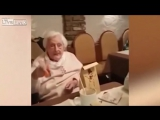 German Grandma Toasts To Hitler!!!! Heil Hitler