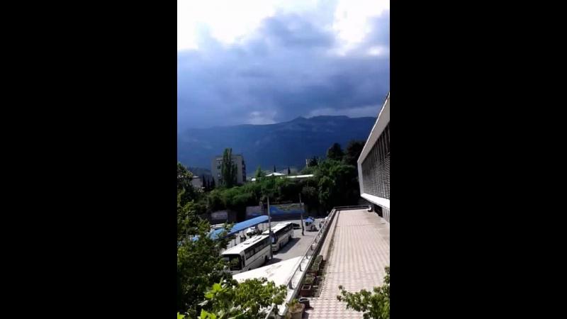 ЭЦГеккон г.Ялта ,Республика Крым, Автовокзал, погода в Ялте, вид на горы)