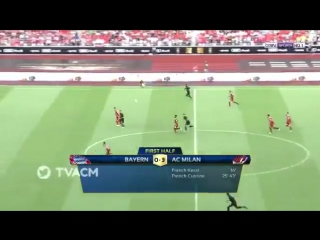 Бонавентура эффектно уходит от Хуммельса в матче «Милана» с «Баварией»