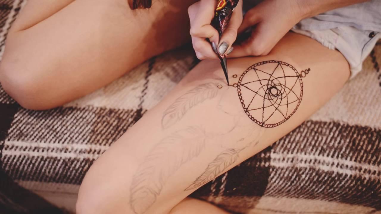 мехенди нарисовать самостоятельно